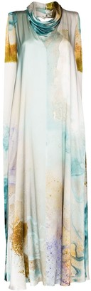 Roksanda Watercolour-Print Maxi Dress