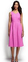 Lands' End Women's Tall Sleeveless Woven V-neck Dress-Soft Lavender