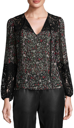 Rebecca Taylor Lyra Lace Silk Top