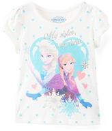 Children's Apparel Network Frozen Polka Dot Cap-Sleeve Tee - Toddler