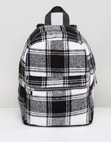 Asos Monochrome Check Backpack