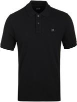Cp Company Black Pique Short Sleeve Polo Shirt