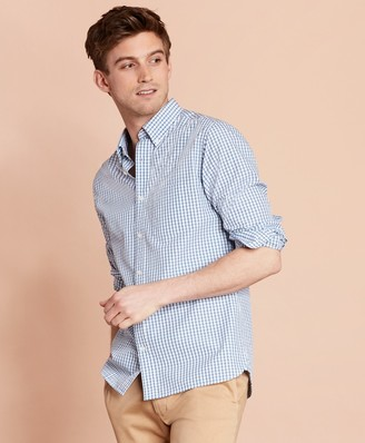 Brooks Brothers Checked Yarn-Dyed Broadcloth Sport Shirt