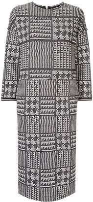 Coohem tech tweed shift dress