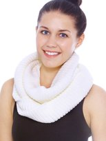 Simplicity Women's Winter Warm Knitted Infinity Loop Hood Scarf