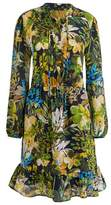 J.Crew J. CREW Watercolor Floral Silk Ruffle Dress