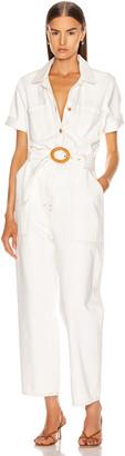 Nanushka Arlo Jumpsuit in White | FWRD