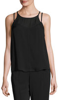 A.L.C. Veron Silk Double-Strap Camisole, Black