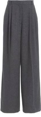 Joseph Tima Pleated Silk-Wool Flannel Wide-Leg Trousers