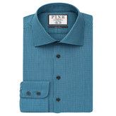 Thomas Pink Sherrington Texture Slim Fit Button Cuff Shirt