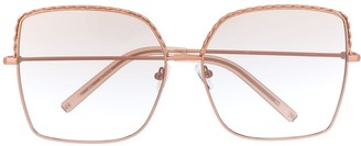 Matthew Williamson Geometric Embellished Squared Sunglasses