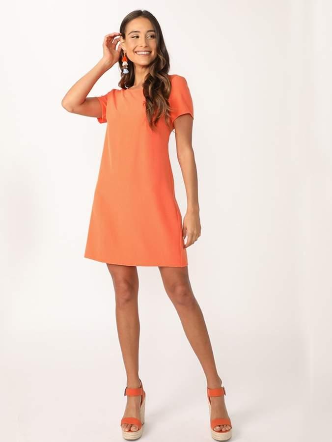 Shein Neon Orange Tunic Dress