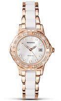 Sekonda 2022.27 Women's Date Two Tone Bracelet Strap Watch, White/Rose Gold