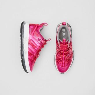 Burberry Vinyl and Nylon Union Sneakers