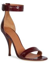 Givenchy Kali Line Croc-Embossed Patent Leather Ankle-Strap Sandals