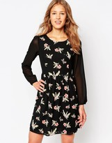 Iska Floral Print Dress with Long Sleeves