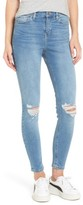 Topshop Women's Moto Jamie Ripped High Waist Ankle Skinny Jeans