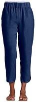 Fresh Produce Seaside Pull-On Linen Woven Capris (Moonlight Blue) Women's Casual Pants