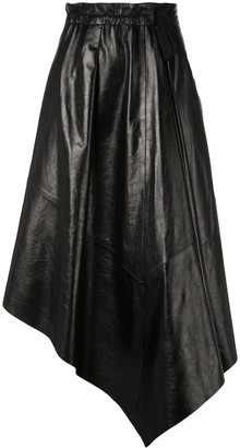Proenza Schouler Asymmetrical Leather Skirt