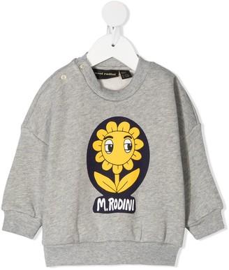 Mini Rodini Flower Logo Print Sweatshirt