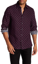 Stone Rose Dotted Check Regular Fit Shirt