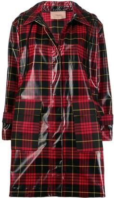 Twin-Set Twin Set tartan raincoat