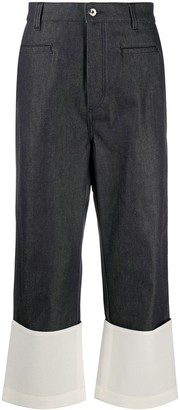 Loewe Contrasting Panel Cropped Jeans