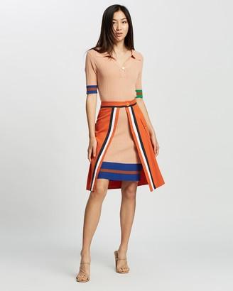Mossée Katie Colour-Block Knit Two-Piece Dress