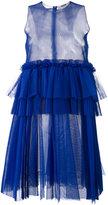 MSGM empire line sheer dress - women - Polyester - 38