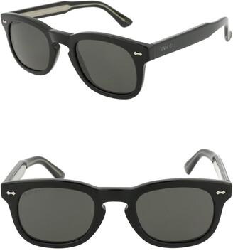 Gucci Core 49mm Square Sunglasses