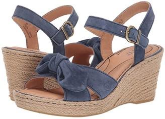Børn Monticello (Black Suede) Women's Wedge Shoes