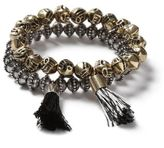 Topman Mixed Metal Tassle Bracelets 2 Pack*