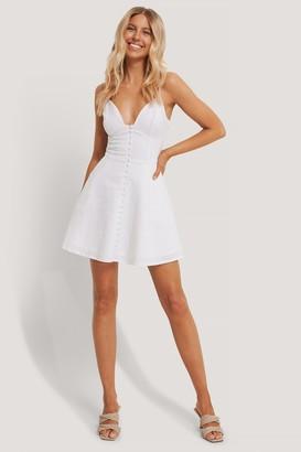 Chloé B X NA-KD Button Up Mini Dress