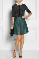 Carven Leather A-line skirt