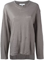 IRO large plain sweatshirt - women - Linen/Flax - S