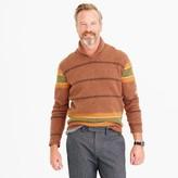 J.Crew Lambswool shawl-collar sweater in blanket stripe