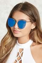 Forever 21 Mirrored Cat Eye Sunglasses