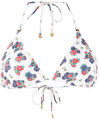Tory Burch Flower Printed Bikini Top
