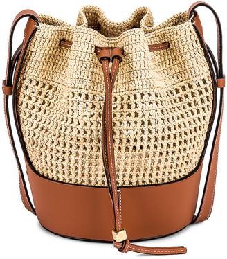 Loewe Balloon Small Bag in Natural & Tan | FWRD