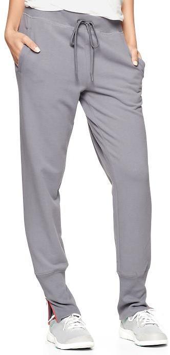 Gap GapFit contrast-zip fleece sweatpants