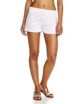 J Valdi Drawstring Dot Lace Shorts Swim Cover-Up