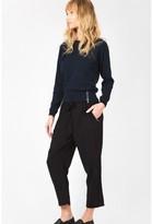 Select Fashion Fashion Womens Black Solid Crop Soft Trouser - size 6