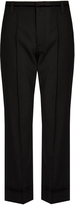 Marc Jacobs Bowie mid-rise cropped wool trousers
