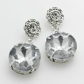 Candie's® silver-tone simulated crystal drop earrings
