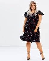Evans Heart Print Midi Dress