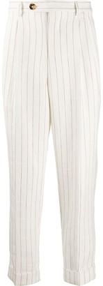 Brunello Cucinelli Straight-Leg Pinstripe Trousers