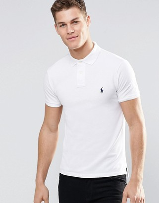 Polo Ralph Lauren slim fit polo with logo in white