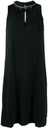 Twin-Set embellished neck dress