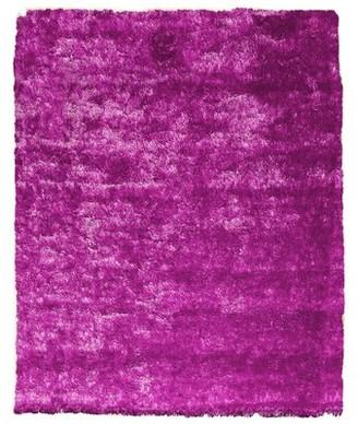 Home Mart Goods Reversible Soft Solid Handmade Shag Hot Pink Area Rug Home Mart Goods Rug Size: Rectangle 5' x 7'