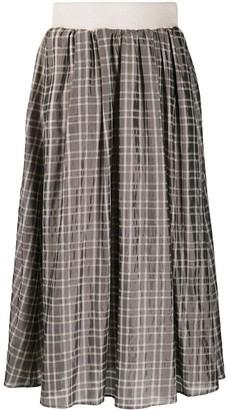 Peserico tartan check A-line skirt